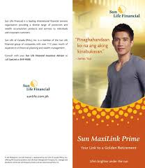 link here financialplanningph com sun lifes maxilink prime insurance with investment