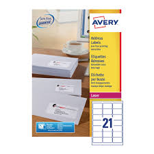 Avery Address Lables Avery Quickpeel L7160 100 Laser Address Labels 63 5 X 38 1mm Pack