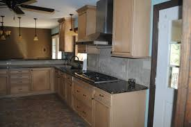 Duraceramic Floors Maple Cabinets Baltic Brown Granite With Tile