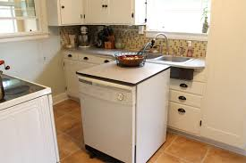 Small Dishwashers For Small Spaces The Virtues Of A Tiny Vintage Not Open Concept Kitchen