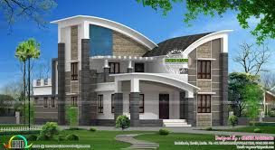 Modern style curved roof villa. Facilities in this house