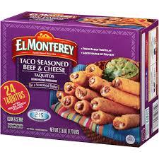 el monterey taco seasoned beef cheese taquitos in seasoned batter 24 ct box walmart