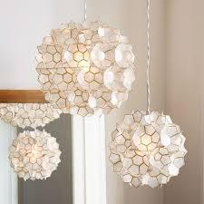artistic west elm ceiling light at large rectangle hanging capiz chandelier white