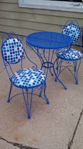 wrought iron patio furniture vintage. Furniture:Retro Patio Table Vintage Wrought Iron Bistro Set Refreshed Renewed Life For The Furniture O