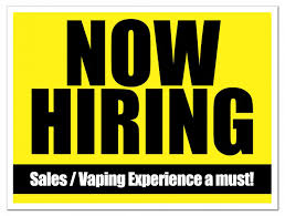 Hiring Sales Rep Paradise Vape Is Now Hiring Experienced Vaper Sales Rep
