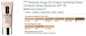 Clinique Superbalanced Shade Chart Clinique Superbalanced Makeup Color Chart