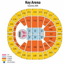 24 Curious Key Arena Seat Map