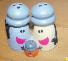 mr salt blues clues. Blues Clues Mr \u0026 Mrs Salt Pepper Baby Paprika Shaker Vinyl TOYS Smalls # U