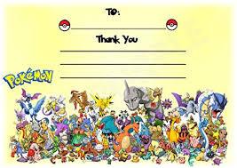 Tajetas De Cumpleanos Pokemon Gracias Por Venir Fiesta De Cumpleaños Tarjetas