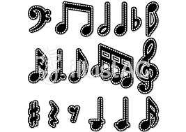 ミシン目シリーズ かわいい音符イラスト No 115144無料イラストなら