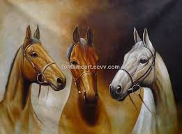 hand made horse oil paintings very beautiful for office and house decoration