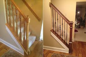 replace stair railing. Diy Staircase Before And After Stair Railings Replace Railing Cost E