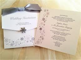 snowflake wedding invitations silver version