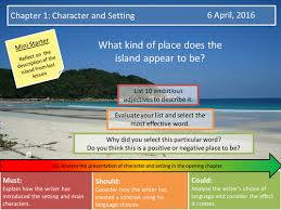 lord of the flies chapter character and setting assessment by  lord of the flies chapter 1 character and setting assessment by f j o teaching resources tes