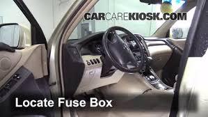 interior fuse box location toyota highlander  interior fuse box location 2001 2007 toyota highlander 2006 toyota highlander hybrid 3 3l v6