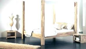 King Bed Frame Canopy Black Metal Queen Size Wood Cheap – Chrishogg
