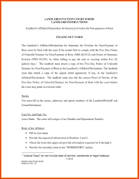 Landlord Eviction Notice Letter Room Rent Contract Sample Daily