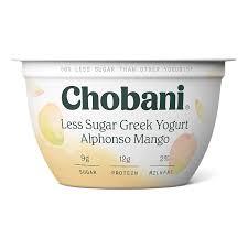 chobani less sugar greek yogurt alphonso mango 5 3oz amazon grocery gourmet food