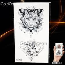 мода карандаш эскиз татуировки мужчины наклейки геометрические временные