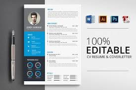 Resume Word Template Modern Resume Templates Design Modern Cv Resume Word