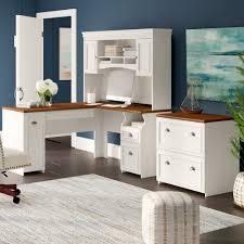 L shaped desk home office Diy Beachcrest Home Oakridge Piece Lshape Desk Office Suite Reviews Wayfair Wayfair Beachcrest Home Oakridge Piece Lshape Desk Office Suite Reviews