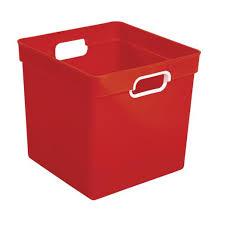 — choose a quantity of storage bins heavy duty. Cube Storage Bin Red