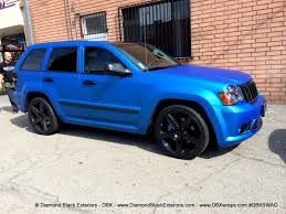 Jeep Grand Cherokee SRT8 Wrapped in Matte Blue Aluminum by DBX ...