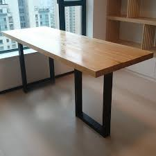 american country multifunction long tables simple office worker office desk iron wood conference table