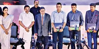 cm palaniswami along with n srinivasan cricketers ms dhoni rahul dravid and kapil dev at the book release d sampath ar