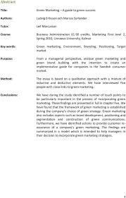 green marketing essay resume examples sample essay in apa format  gr ouml n marknadsf ouml ring en guide till gr ouml n framg aring ng f essay online order