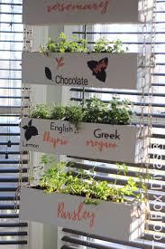 picture of diy indoor vertical herb garden with toolbox divas