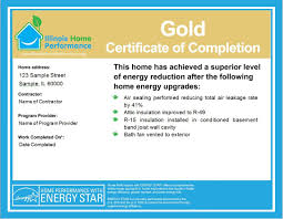 how to make a certificate of completion the ihp certificate of completion illinois home performance