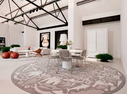 full imagas cream motifs large round rugs applied on the cream floor it also has white