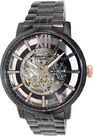 kenneth cole new york transparent dial stainless steel black kenneth cole new york transparent dial stainless steel