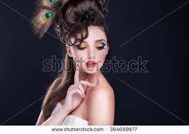 beautiful young woman with creative fashion hairstyle spanish flamenco hairstyle creative makeup