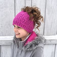Bun Hat Pattern Fascinating Ravelry Kaycee Ponytail Or Bun Beanie Hat Pattern By Crochet By