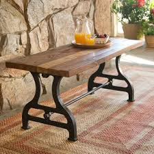 wood and iron furniture. Reclaimed Wood/Iron Garden Bench Wood And Iron Furniture O