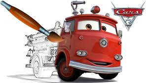 CARS 3 Fire Truck RED - Coloring Book Pages Video For Kids Episode ...