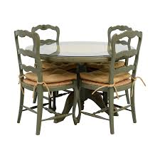 hand painted country style kitchen table and chairs