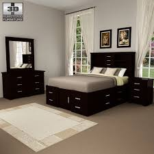 Bedroom 3D Model | Architectural Interior Furniture Sets 3D Models | max,  3ds, c4d, obj, lwo
