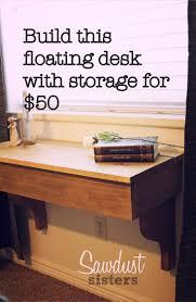 DIY Floating Desk/Vanity with Storage