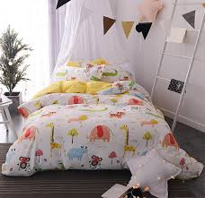cute character animal single double bedding set teen kid 100 twin full queen bedclothes bedsheet pillow case quilt cover king size duvet pretty