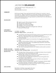 Resume Template Teacher Stunning Free Entry Level Foreign Language Teacher Resume Template ResumeNow