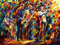 jazz band palette knife oil painting on canvas by leonid afremov size 40