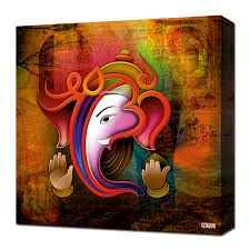 canvas wall art ganesh collage on ganesh wall art uk with canvas wall art ganesh collage gitadini