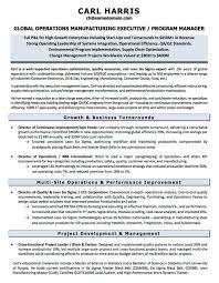 Wonderful Six Sigma Resume Sample Images Example Resume And