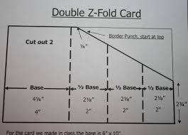 fold card double z fold card mywithershins