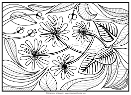 Large Flower Coloring Pages Courtoisiengcom