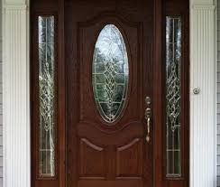 small oval glass fiberglass door with