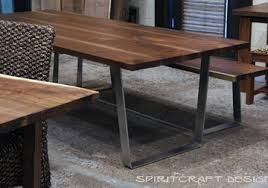 modern kitchen table with bench. Dining Table And Matching Bench From Slabs Of Kiln Dried Black Walnut With Mid Century Modern Kitchen